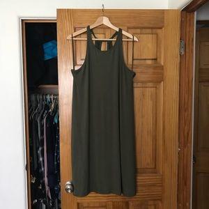 Gap Olive Tall Tank Swing Dress Large NWOT